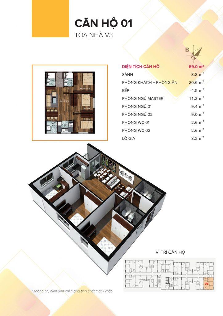 Mặt bằng căn hộ 01